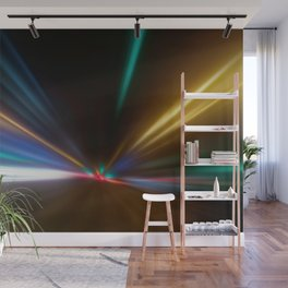 Light Trails in the Dark,Traffic Light Trails,AbstractTraffic Lines Wall Mural