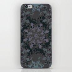Damask, grey iPhone & iPod Skin