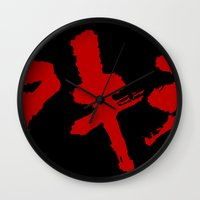 grafitti Wall Clocks featuring Akira Grafitti by InvaderDig