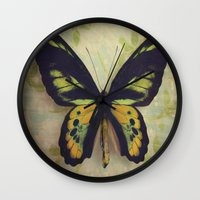 tapestry Wall Clocks featuring Tapestry by KunstFabrik_StaticMovement Manu Jobst