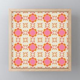 Sixties Tile Framed Mini Art Print