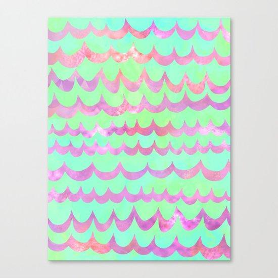 WAVES - Pastel Canvas Print