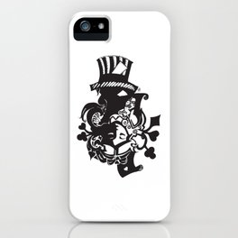 MadHatter Alice Wonderland in an upside down world of iPhone Case