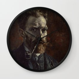 Vincent van Gogh - Self-Portrait with Pipe Wall Clock