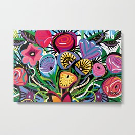 Flowers All Over Metal Print