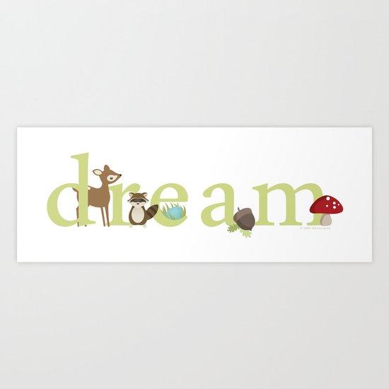 Woodland Dreams - Green Art Print