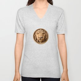 Lion Head Face Unisex V-Neck