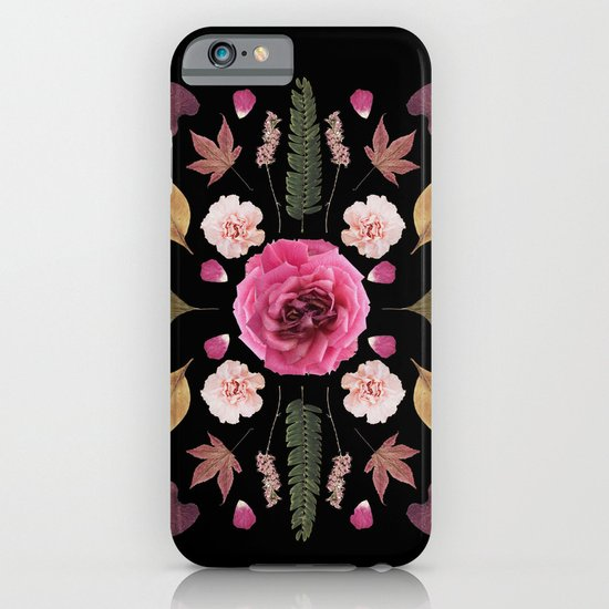 BOTANICAL COLLAGE N1 BLACK BACKGROUND iPhone & iPod Case
