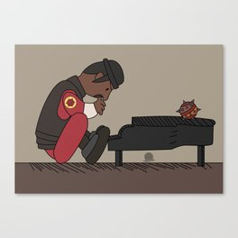 Demo Man Peanuts Style Canvas Print