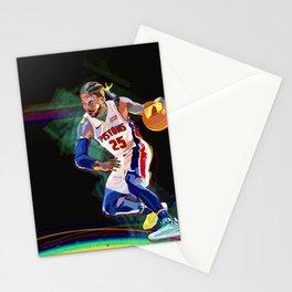 Detroit Basketball Star D. Rose / Slam Dunk / Art Print Stationery Cards