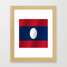 Flag of Laos Framed Art Print
