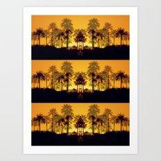 Six Sunsets Art Print