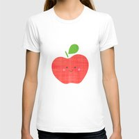 apple T-shirts featuring apple by Berreca