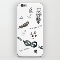 tattoos iPhone & iPod Skins featuring Louis's Tattoos by Kate & Co.