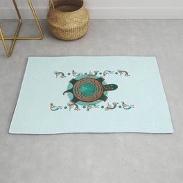 Visitors Anasazi Folk Art Rug