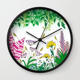 Happy Jungle Wall Clock