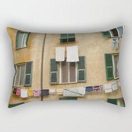 Hanging laundry Rectangular Pillow
