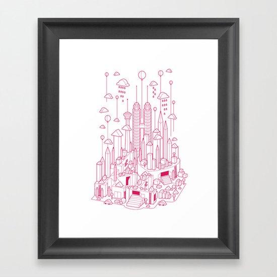 Kuala Lumpur (Red ver.) Framed Art Print