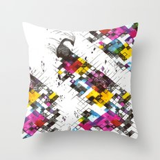 Ink Kaleidoscope Throw Pillow