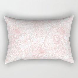 Boho chic floral henna mandala image Rectangular Pillow