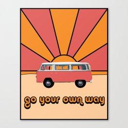 Go Your Own Way Van Canvas Print