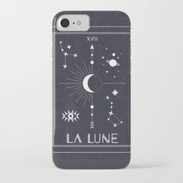 The Moon or La Lune Tarot iPhone Case