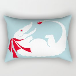 White alligator Rectangular Pillow
