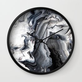 Marble B/W/G Wall Clock