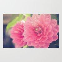 Pink Dahlia Rug