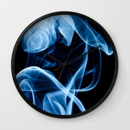 Blue Smoke Wall Clock