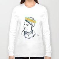 cassandra jean Long Sleeve T-shirts featuring Cassandra Flower Crown by Eileen Bahar