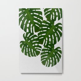 Monstera Leaf I Metal Print