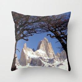 Fitz Roy Mountain Landscape (Patagonia, South America) Throw Pillow