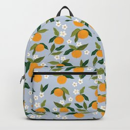 Gouache Oranges Blue Backpack