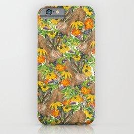Jackalope Wildflower Florals iPhone Case