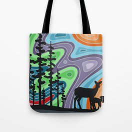 I Met My Deerest by the Forest's Edge Tote Bag