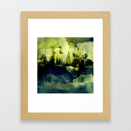 abstract landscape with light Framed Art Print