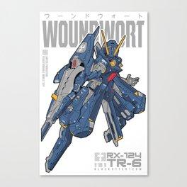 Woundwort Test Team color - MS Gundam Canvas Print