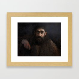 Old Neanderthal Framed Art Print