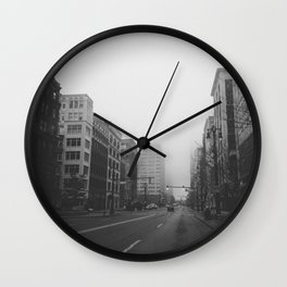 Woodward & John R...& Clifford - Detroit, MI Wall Clock