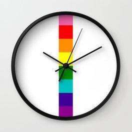 gay stripe Wall Clock