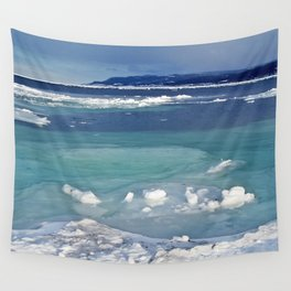 Snow and Ice pool Wall Tapestry