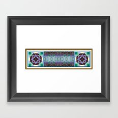 Lavender and Teal Framed Art Print