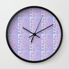pink polka dot 2- polka dot,pattern,dot,polka,circle,disc,point,abstract,minimalism Wall Clock