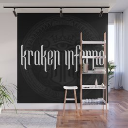 Kraken Inferno Logotype & Emblem Wall Mural