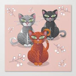 Three nice tiger cats Canvas Print