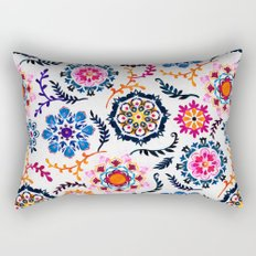 Happy Color Suzani Inspired Pattern Rectangular Pillow