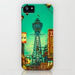 Osaka Nights - Shinsekai, New World / Liam Wong iPhone Case