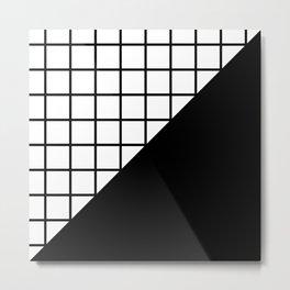 EIGHTIES PATTERN (BLACK-WHITE) Metal Print
