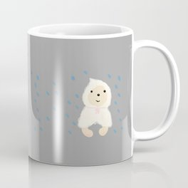 Alternative rain wear(Retriever wears a plastic bag in the rain) Coffee Mug